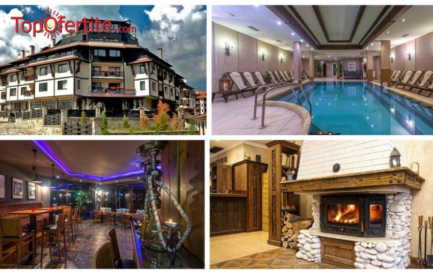 4=5 ПРОМО!!! Хотел Мария-Антоанета Резиденс 4*, Банско! 4=5 нощувки + закуски, закуски и вечери или на база All Inclusive Light + вътрешен отопляем басейн, парна баня и сауна на цени от 138 лв. на човек